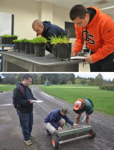Students studying turfgrass management at Oregon State University receive a hands-on education taking the scientific concepts learned in the classroom into the field for practical application.