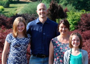 Larry and Angela Bailey enjoy living the farm lifestyle with daughters Katie, 13, and Abbigayle, 9. Photo by Curt Kipp