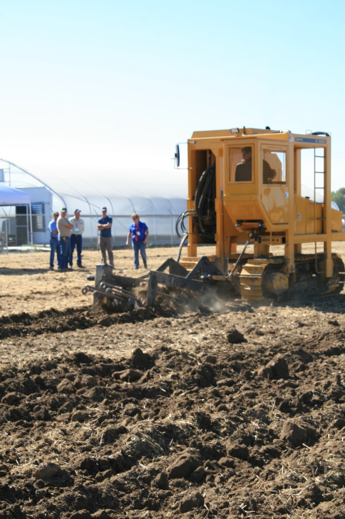 Onlookers watched in awe as GK Machine's H7 Bare Root Tree Digger made easy work of the dry, compacted soil.