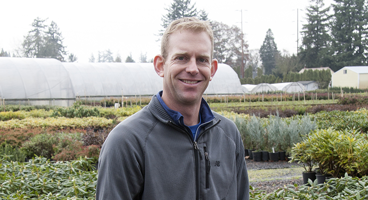 Jim Simnitt, 37, is co-owner of Simnitt Nursery in Canby, Oregon.