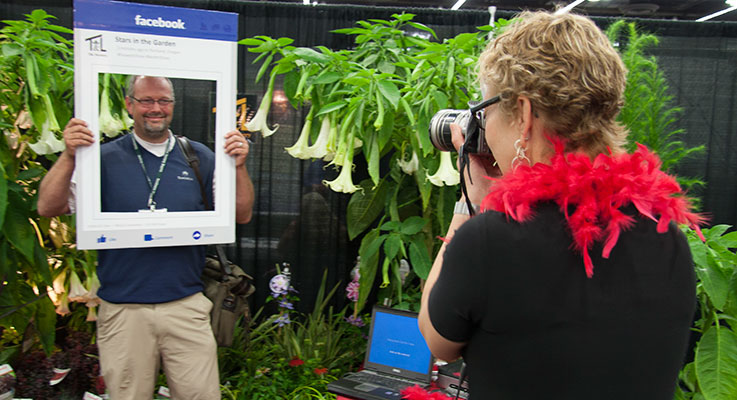 T&L Nursery created a fun and engaging social media promotion to attract visitors to their trade show booth at last year's Farwest Show. Photo by Peter Szymczak