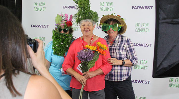 "Farwest Fanatics were out in full force at the 2016 Farwest Show. The photo booth, hosted by Pivot Group, was popular with attendees who wanted to show their ""Far From Ordinary"" spirit."