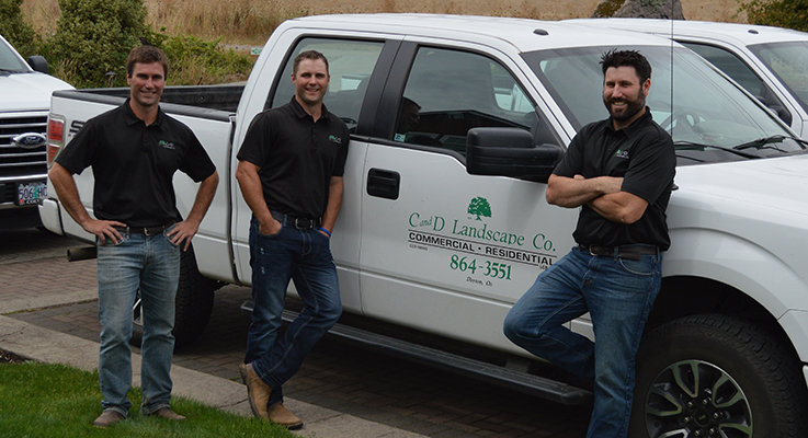 C and D Landscaping, based in Dayton, Oregon, was recognized as a finalist in the 2016 Excellence in Family Business Awards and have been involved with the Austin Family Business Program at Oregon State University. Pictured (left to right) are Isaac, Caleb and Josh Kearns, all second-generation siblings working in the business.