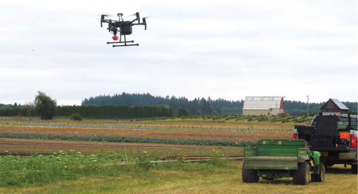 Researchers and growers explore the use of drones in nursery production