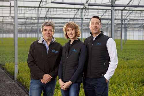 Oscar Verges, president & chief operating officer, Amelie Brazelton Aust and Cort Brazelton, co-chief executive officers at Fall Creek Farm & Nursery, Inc.